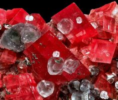 Rhodochrosite with Fluorite Mini-King Raise, Sweet Home Mine, Alma, Colorado, USA Quite simply, one of the best combination pieces ever recovered in the mine during its heyday in the late 1990s.  Joe Budd photo.