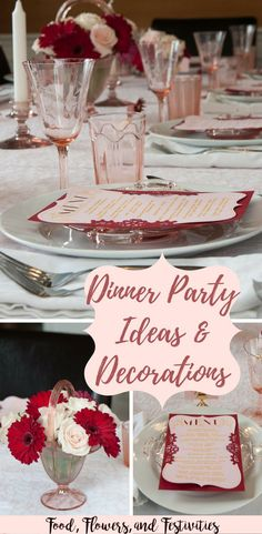 Host an amazing dinner party and get ideas for the menu, recipes, decorations, tablescapes, and of course dessert! Birthday Dinner Menu, Dinner Party Menu, Birthday Dinners, Birthday Parties, Dinner Ideas, Dinner Parties, Happy Birthday, 12th Birthday, Birthday Nails