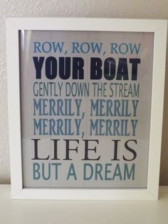 Hey, I found this really awesome Etsy listing at http://www.etsy.com/listing/159285892/row-row-row-your-boat-nursery-wall