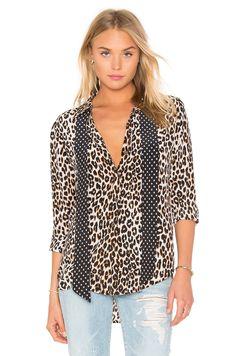 EQUIPMENT Kate Moss For Equipment Slim Signature Cheetah Print Tie Neck Blouse. #equipment #cloth #dress #top #shirt #pant #coat #jecket #jacket #shorts #ski