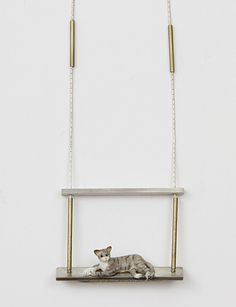 FAUX/real Sterling Silver Cat Necklace ...cat ladies, let your freak flag fly!