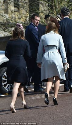 Princess Beatrice made a small fashion faux pas by leaving the sticky label on the under sole of her Kurt Keiger shoes