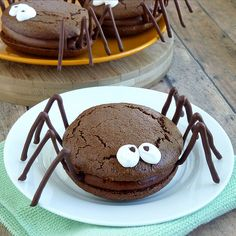Spider Choclate Whoopie Pies