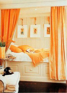 Very chic sleeping nook. stephenstubel.com - ~Magical Home Inspirations~
