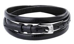 Joy de la Luz | Leather buckle bracelet Lizard black