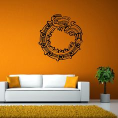 Hey, I found this really awesome Etsy listing at https://www.etsy.com/uk/listing/253741539/wall-decal-infinity-dragon-aztec-decal