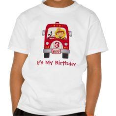 Fire Truck Birthday Boy T Shirt, Hoodie Sweatshirt