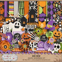 Boo Crew Kit - Peppermint Creative #digiscrap  #digitalscrapbook #halloween