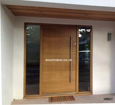 contemporary door clear sidelights
