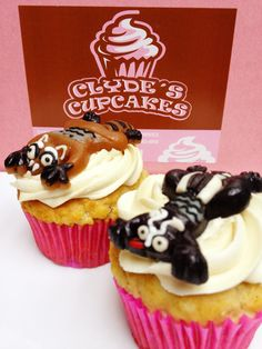 Watch out for forest critters crossing the road this fall! Here at Clyde's they become a cute topping for our 'Roadkill Cupcake'!