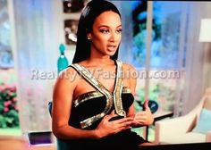 Draya Michele's Black & Gold Metallic Strap Dress #BBWLA