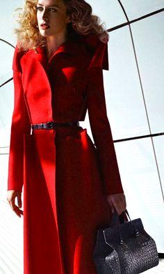 Bottega Veneta red coat