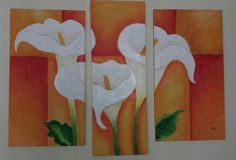 Canvas Painting Projects, Abstract Painting Techniques, Dot Art Painting, Diy Canvas Art, Silk Painting, Watercolor Art, Art Floral, Calla, Buddha Painting