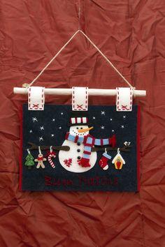 "Targa ""Buon Natale"" *Le Chips di Feltro* - Felt Welcome Merry Christmas"