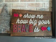 "Custom ordered board - measures 18"" x 12"". #stringart  Facebook.com/Strungbyshawna Nail String Art, Punch, Tin, Facebook, Create, Board, Design, Decor, Tin Metal"