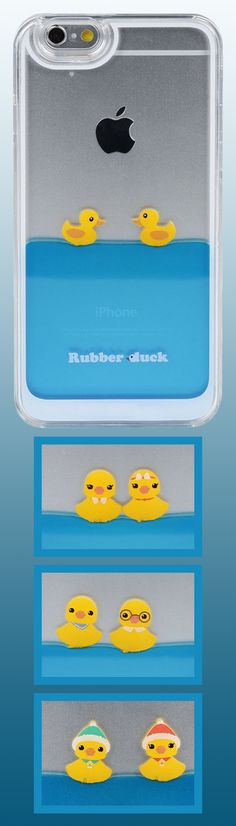 Imported directly from Japan, these iPhone 6 cases will give you a look that is truly *kawaii*!  The Rubber Duckies float around happily on clear blue liquid sealed inside.   Choose from a variety of duckies: Classic, Brainy, Dapper, or even Winter Festive!