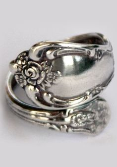 Old type of wedding ring. A spoon ring.