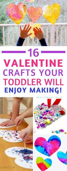 Valentines Day Crafts for Toddlers and Preschoolers - there's just something about all the hearts that makes toddlers so excited about Valentine's Day crafts don't you think? #valentinesday #toddlers