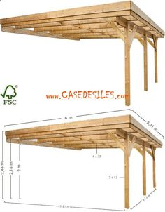 Shed Plans - Carport bois à Prix Imbattable : Carport adossant bois 2 voitures 31.26mc 0700425 - Now You Can Build ANY Shed In A Weekend Even If You've Zero Woodworking Experience!