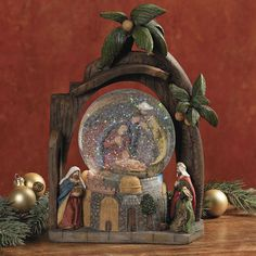Nativity snow globe