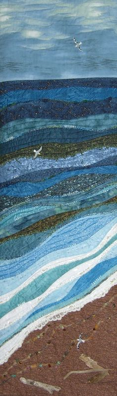By the Sea  I salute the maker of this quilt!  And I am SO going to copy the idea!!: