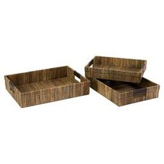 As seen on HGTV's Flipping the Block, Episode 5 – The Guest Room: 3-Piece Havana Tray Set