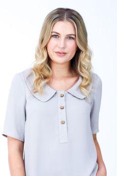0b1b778cf43 Banksia blouse Version 3 includes an oversized peter pan collar + partial button  placket Pdf Patterns