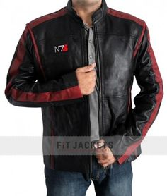 Free Shipping on #MassEffect3 Jacket of Series 3.This Mass Effect N7 3 #LeatherJacket is made from Real Cowhide leather available in best price at fitjackets.