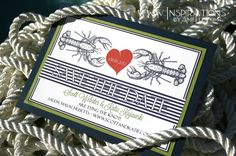 Nautical Lobster Save the Date wedding by InspirationsbyAmieLe, $50.00