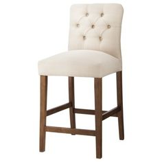 "Threshold™ 24"" Brookline Tufted Counter Stool at Target. It comes in blue/green color"