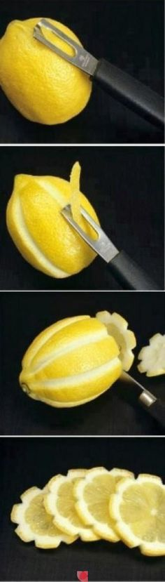 Food: Pretty lemon tutorial! All wedding lemons can now be cute lemons!