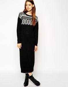 ASOS Midi Dress In Knitted Fairisle Pattern | #Christmas