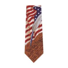 Collectible Patriotic Novelty Men's Constitution American Flag Necktie Tie  http://www.yourneckties.com/collectible-patriotic-novelty-mens-constitution-american-flag-necktie-tie-2/