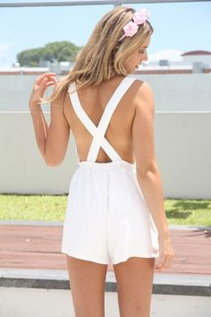 Cute Romper from SaboSkirt! Forget underboob and side cleavage and front cleavage. Who cares about short skirts and butt cheeks hanging out of shorts? Backless is the trend... and to say the least, I'm into it. Not only is it super sexy, it's also awesome for summer because it keeps you cool.