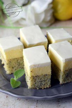 Ciasto cytrynowe z makiem – Smaki na talerzu Happy Foods, Homemade Cakes, Yummy Cakes, Cheesecake, Food And Drink, Sweets, Easy, Miami, Sheet Cakes
