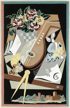 Gino Severini - Flowers and masks