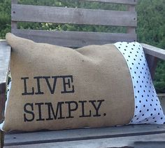 Live Simply Burlap Pillow Cover, $20