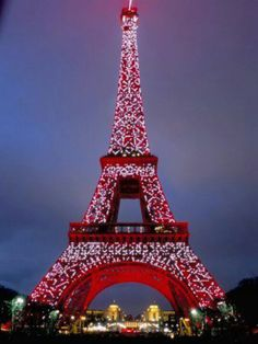 Eiffel Tower at Christmas Time.