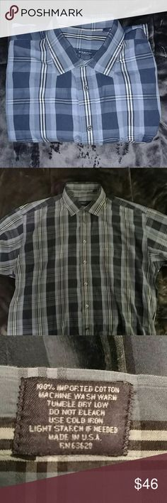 Burberry London blue striped casual shirt This is a fantastic Burberry London shirt. It has a couple very small tears in the left arm (Pic 4), but other thant that, it's in great shape! I'm selling because it's too big for me now. 100% cotton made in USA. Burberry Shirts Casual Button Down Shirts