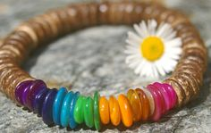 Hey, I found this really awesome Etsy listing at https://www.etsy.com/uk/listing/231243142/7-chakra-shell-and-coconut-bracelet