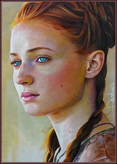 Sansa Stark.  Art-Spire, Source d'inspiration artistique / 47 fantastiques fan art de Game of Thrones