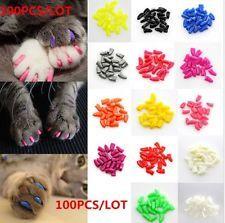 100pcs Soft Pet Cat Nail Caps Claws Control Paws off 5 Different Colors 5pcs Cat Claw Covers, Cat Nail Caps, Pet Dogs, Dog Cat, Soft Nails, Fancy Nails, Kitten Care, Cat Accessories, Cat Supplies