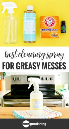 This homemade cleaning spray only has 3 ingredients, yet it's the only cleaning spray I'll use on really greasy messes! This degreaser spray contains lemon essential oil, which helps cut through even the greasiest messes and leaves behind a sparkling clean shine.. #homemadecleaning #degreaser #naturalcleaning #naturalhome #diy #easydiy #chemicalfree #naturalliving #naturalcleaner #cleaning #cleaninghacks #cleaningingredients #cleaningtips #cleaningproducts #essentialoilrecipes…