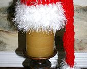 Santa elf hat red and white with fun fur trim 14 In baby hat  http://etsy.me/qc2Qii
