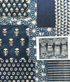 // TEXTILE TUESDAY // Featuring some of our all time favourite indigo mud printed fabrics! They get me every time!  Available through @studiofournyc @nickyrisingltd @jamesshowroom @ascraft_textiles