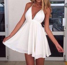 Love this white dress!