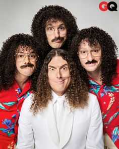 Weird Al & The Lonely Island Pose Together in GQ's Comedy Issue