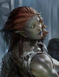 Fantasy Races, High Fantasy, Fantasy Women, Fantasy Rpg, Fantasy Girl, Fantasy Portraits, Character Portraits, Fantasy Artwork, Dungeons And Dragons Characters