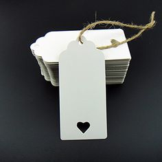 100pcs White Kraft Paper Tag Blank for Wedding Favour Cards,Gift Tag,DIY Tag,Luggage Tag,Price Label,Store Hang Tag (100) with heart gzzhongheng http://www.amazon.co.uk/dp/B00YK8TOG4/ref=cm_sw_r_pi_dp_vkIUvb18B7S4Q