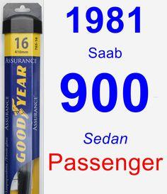 Passenger Wiper Blade for 1981 Saab 900 - Assurance